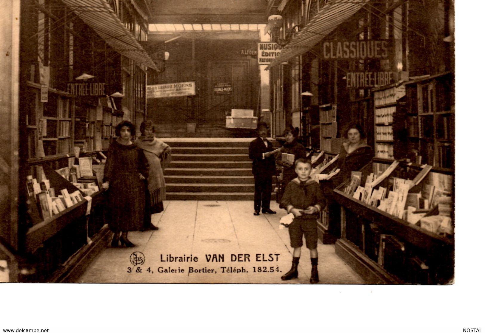 B3. Bruxelles: Librairie Van Der Elst, Galerie Bortier - Brussel (Stad)
