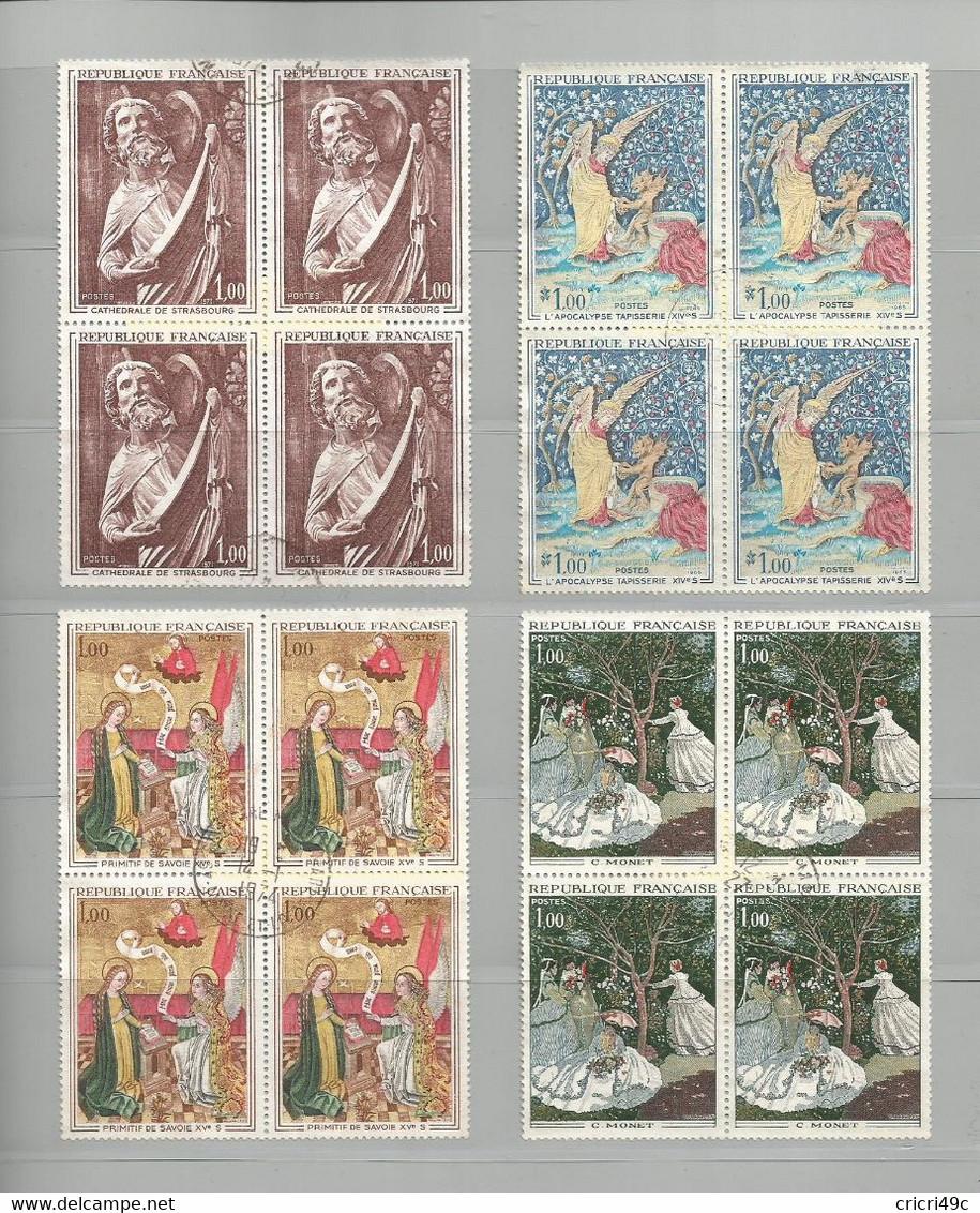 Timbres Oblitérés, Tableaux Ou Oeuvres D'art De 1965 à 1972 - Verzamelingen (zonder Album)