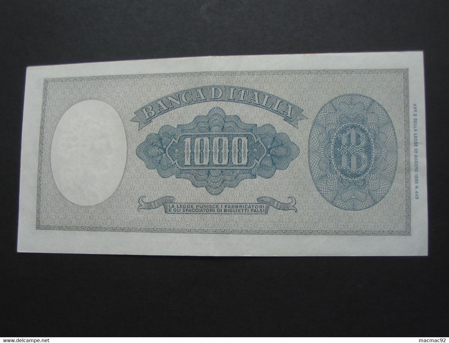 1000 Mille LIRE 10.2.1948  - ITALIE - Banca D'Italia  **** EN ACHAT IMMEDIAT **** - 1000 Lire