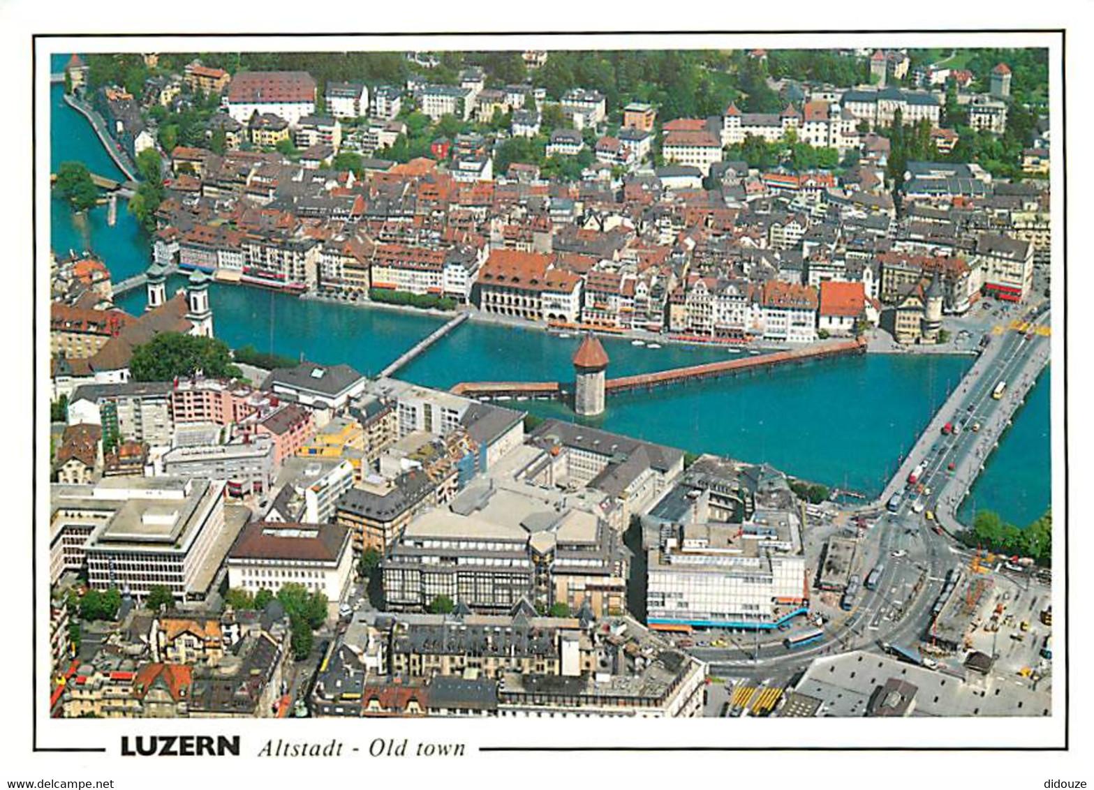 Suisse - LU Lucerne - Luzern - Altstadt - Vieille Ville - Vue Générale Aérienne - CPM - Carte Neuve - Voir Scans Recto-V - LU Lucerne