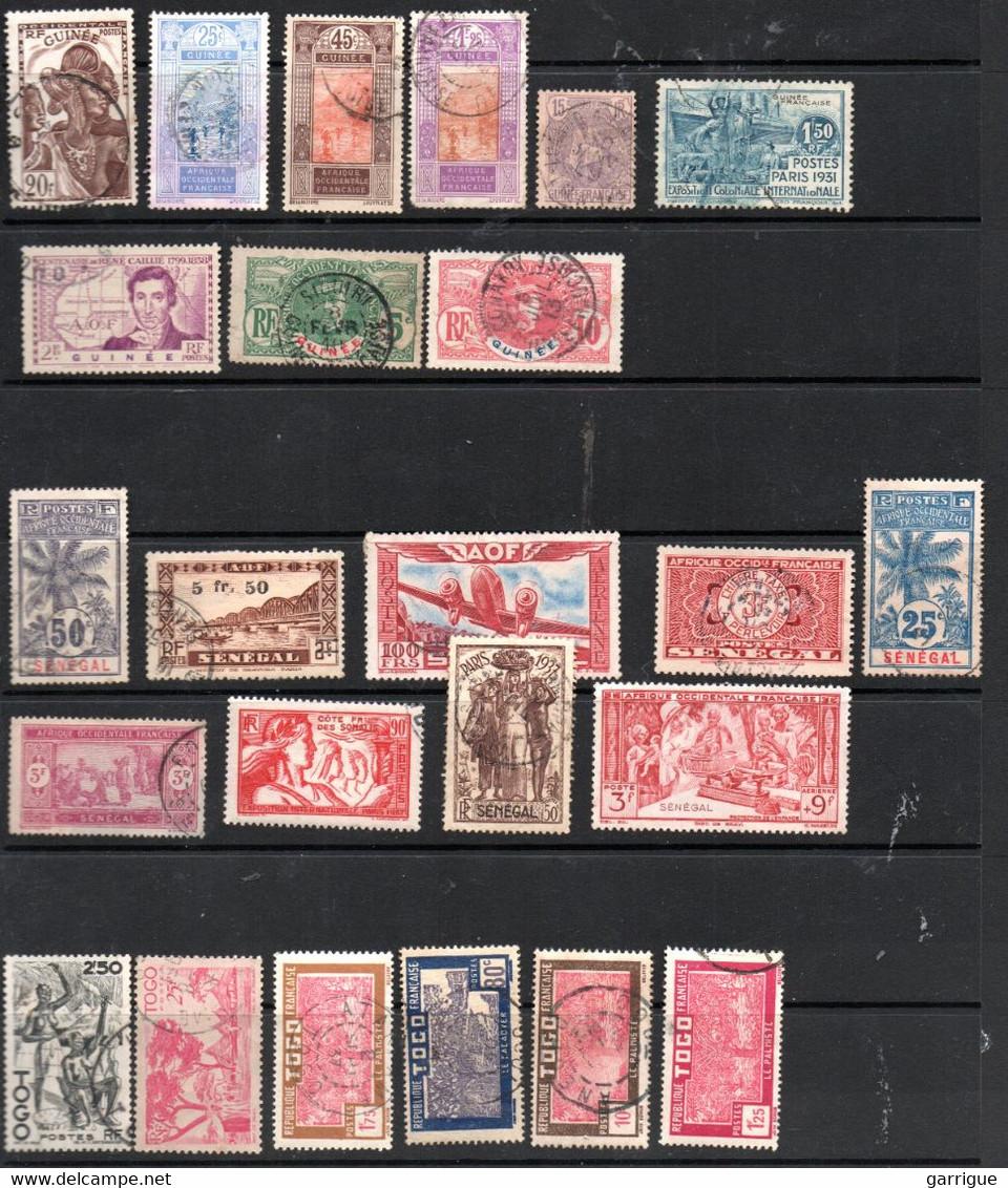 Petit Lot De Timbres Anciens Des Colonies Françaises Avant Indépendance - Verzamelingen (in Albums)