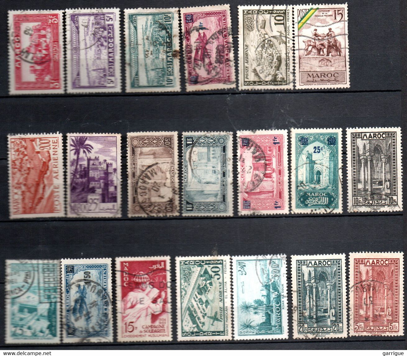 Petit Lot De Bons Timbres Semi Modernes Du Maroc - Collections (with Albums)