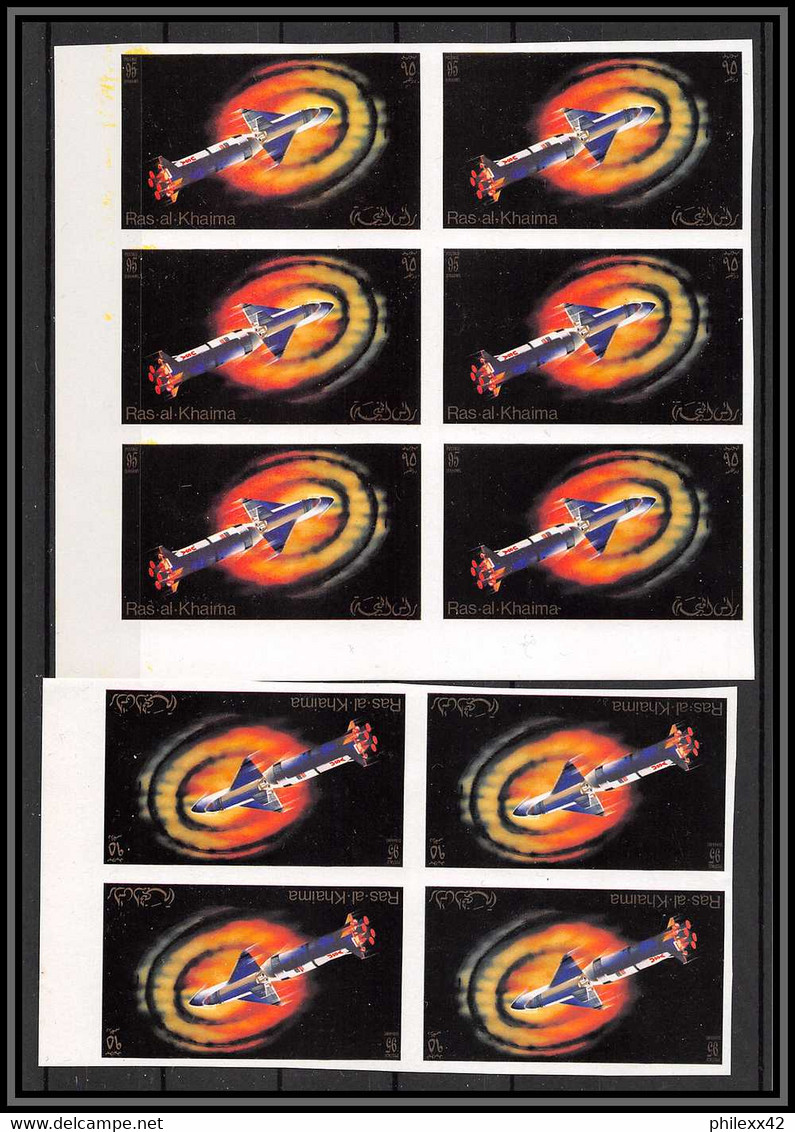 Départ 1 Euro - Stock/lot De 111 Timbres Michel N°755 B  Non Dentelés   ** MNH Non Dentelé Imperf Stamps Ras Al Khaima - Collezioni (senza Album)