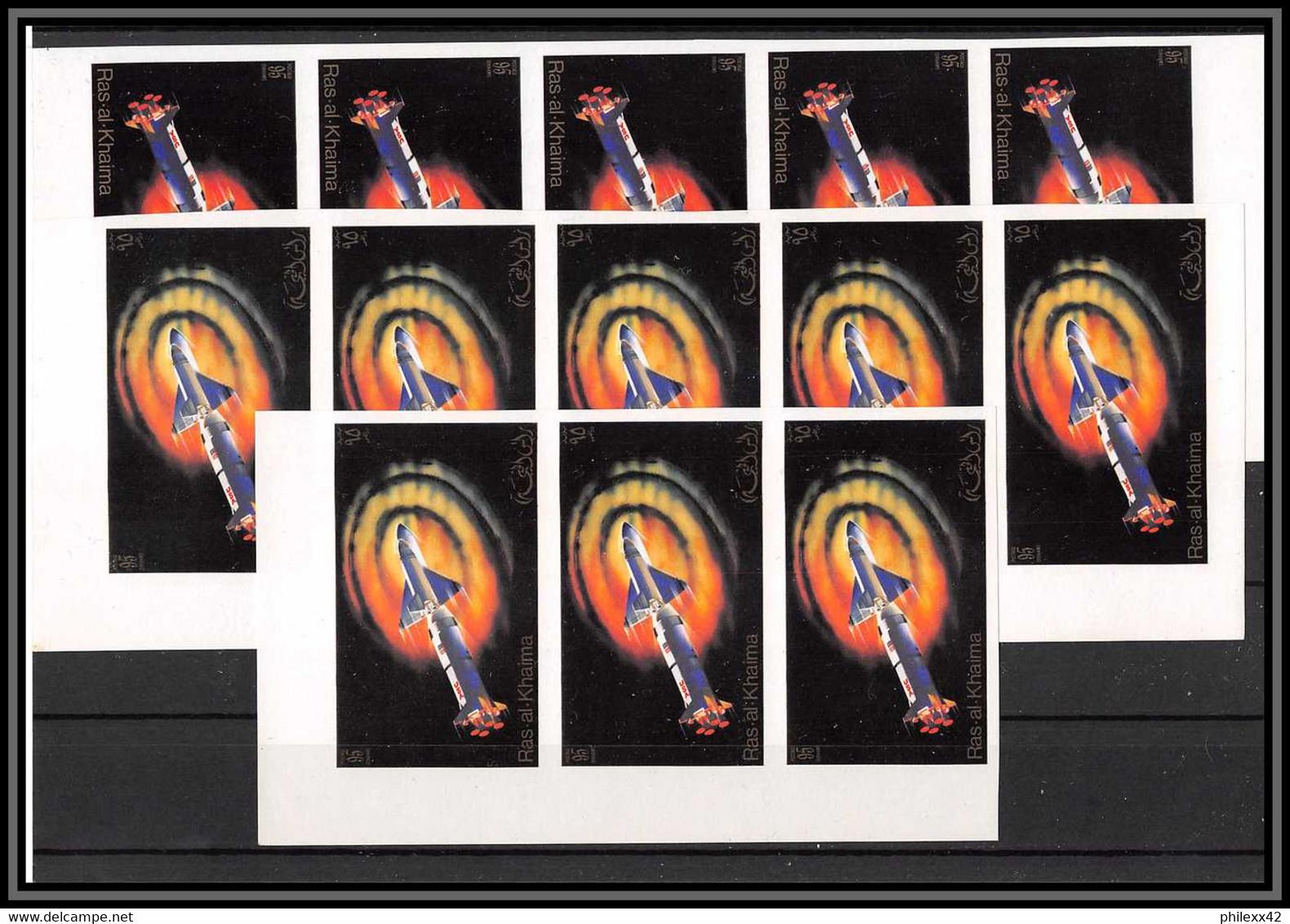 Départ 1 Euro - Stock/lot De 111 Timbres Michel N°755 B  Non Dentelés   ** MNH Non Dentelé Imperf Stamps Ras Al Khaima - Collections (without Album)