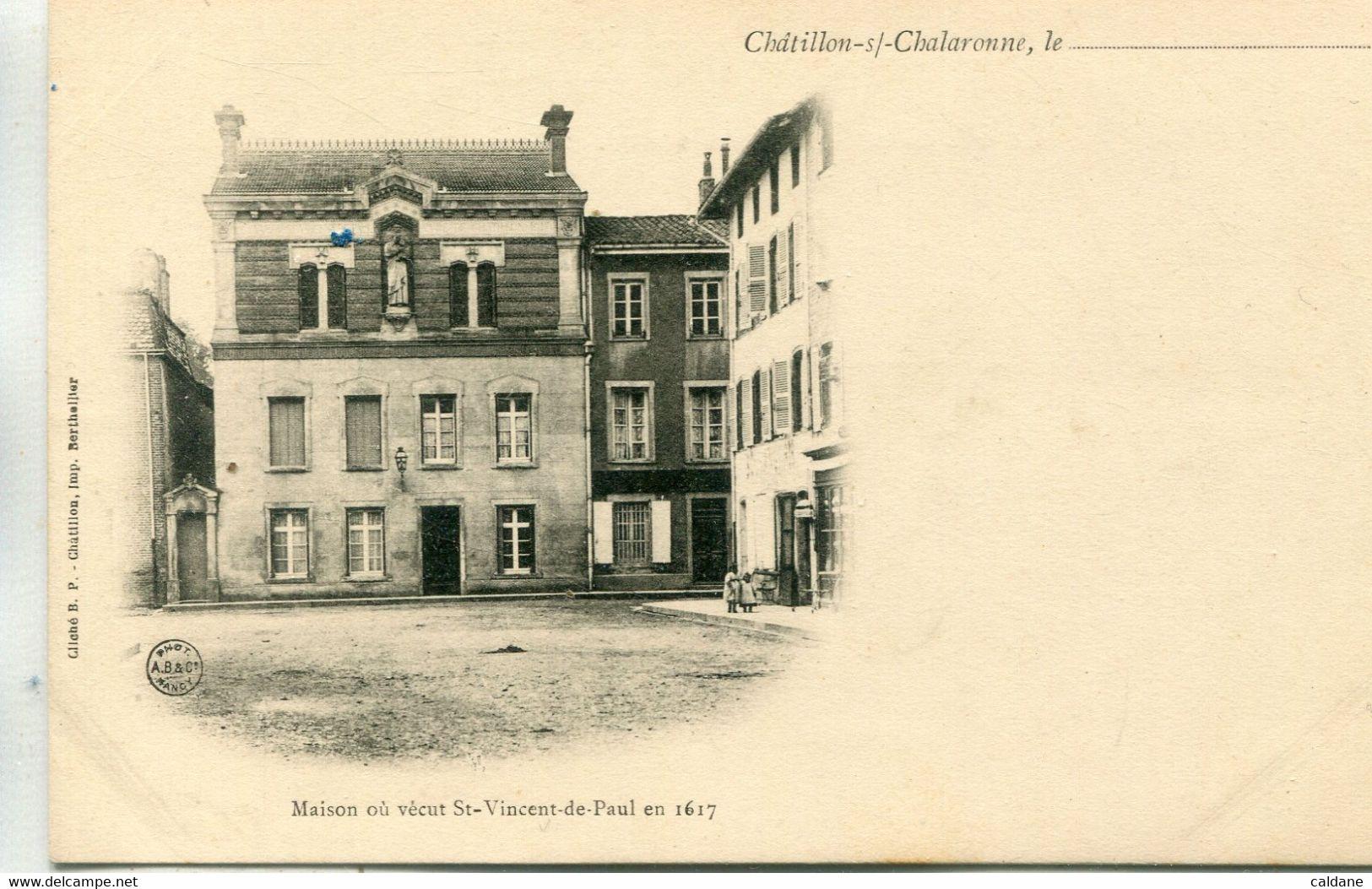 -01-AIN- CHATILLON-sur-CHALARONNE -  Maison Ou Vecut St-Vincent-de-Paul - Châtillon-sur-Chalaronne
