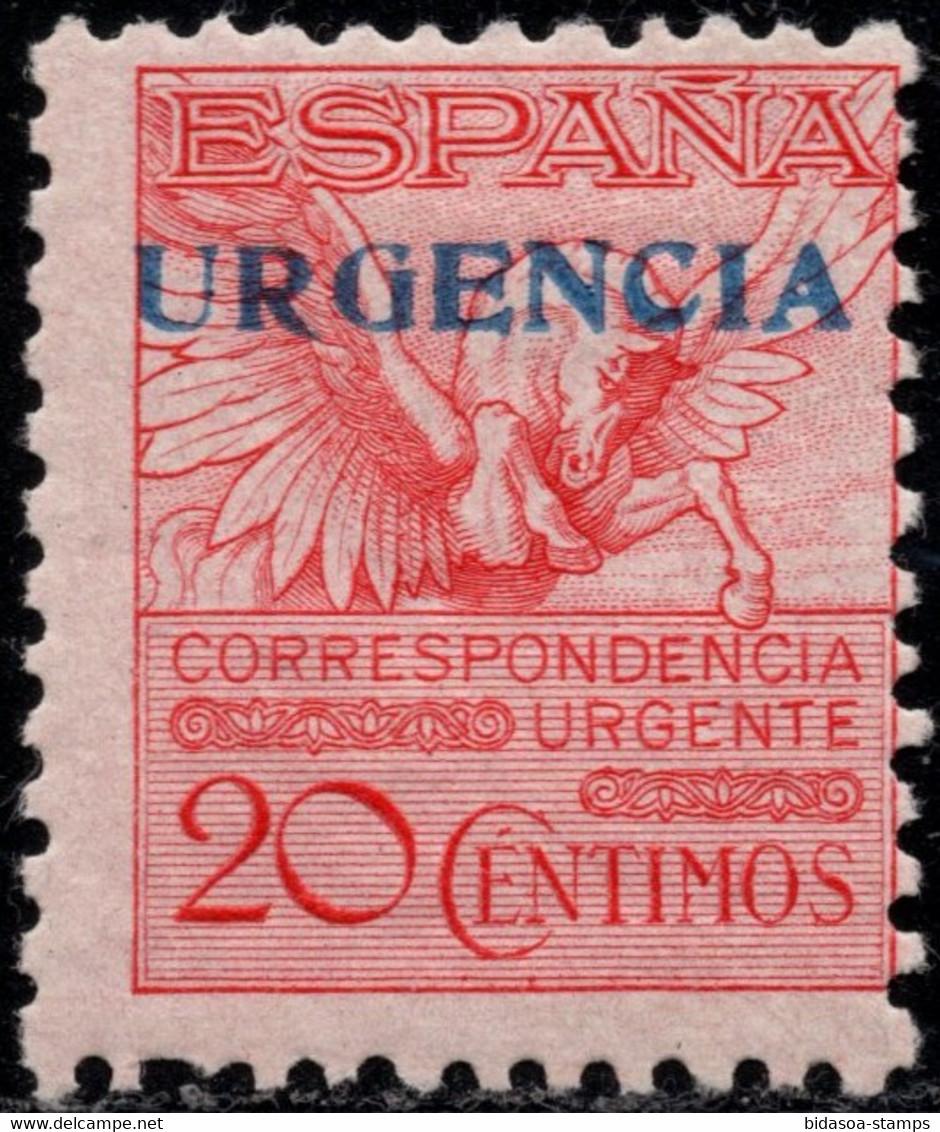 1930.MH.Ed:*591A.Alfonso XIII.20 Cts Rosa Con S/C URGENCIA - Ungebraucht