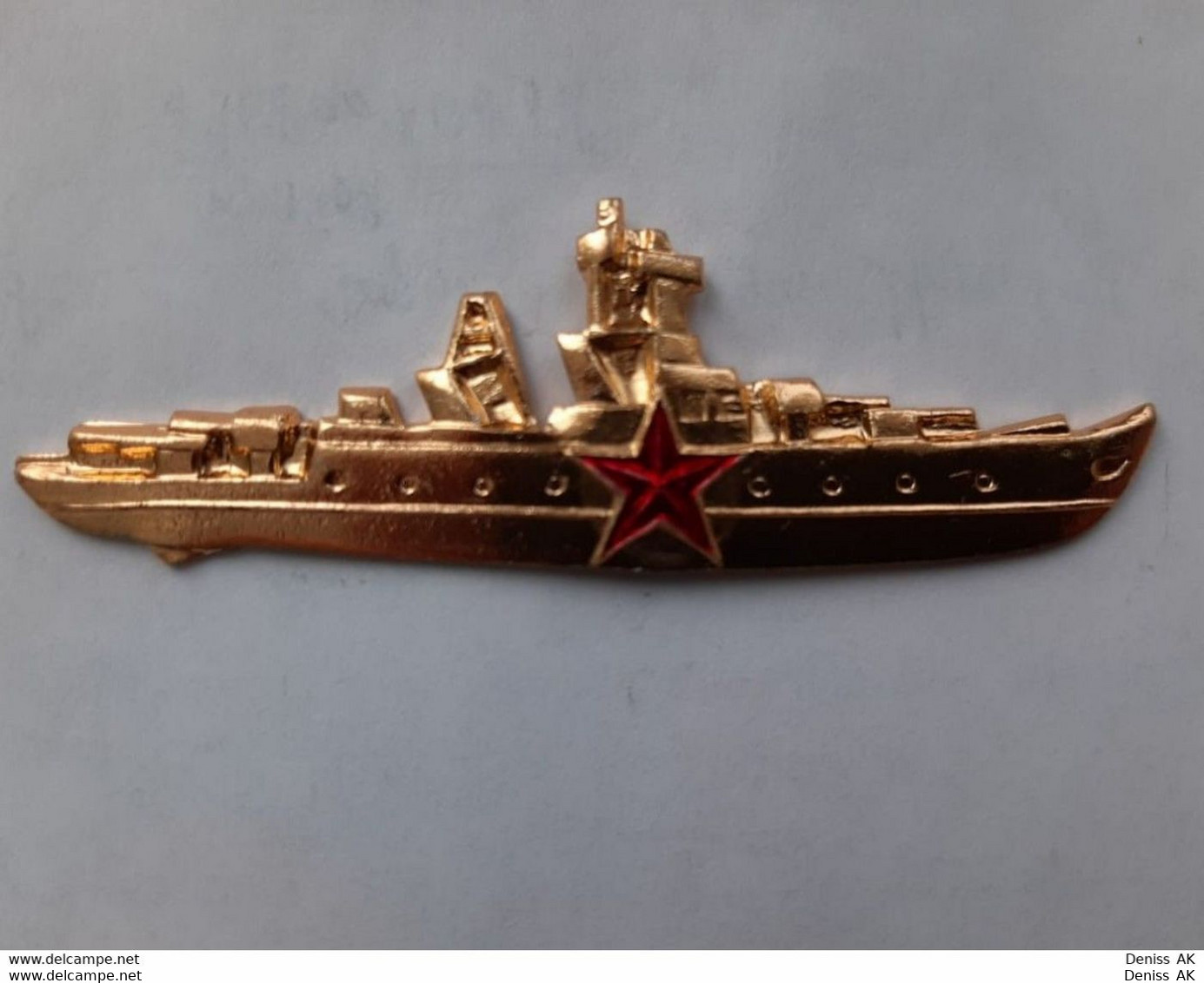 Sign. Commander Of The Soviet Navy Ship. - Marinera