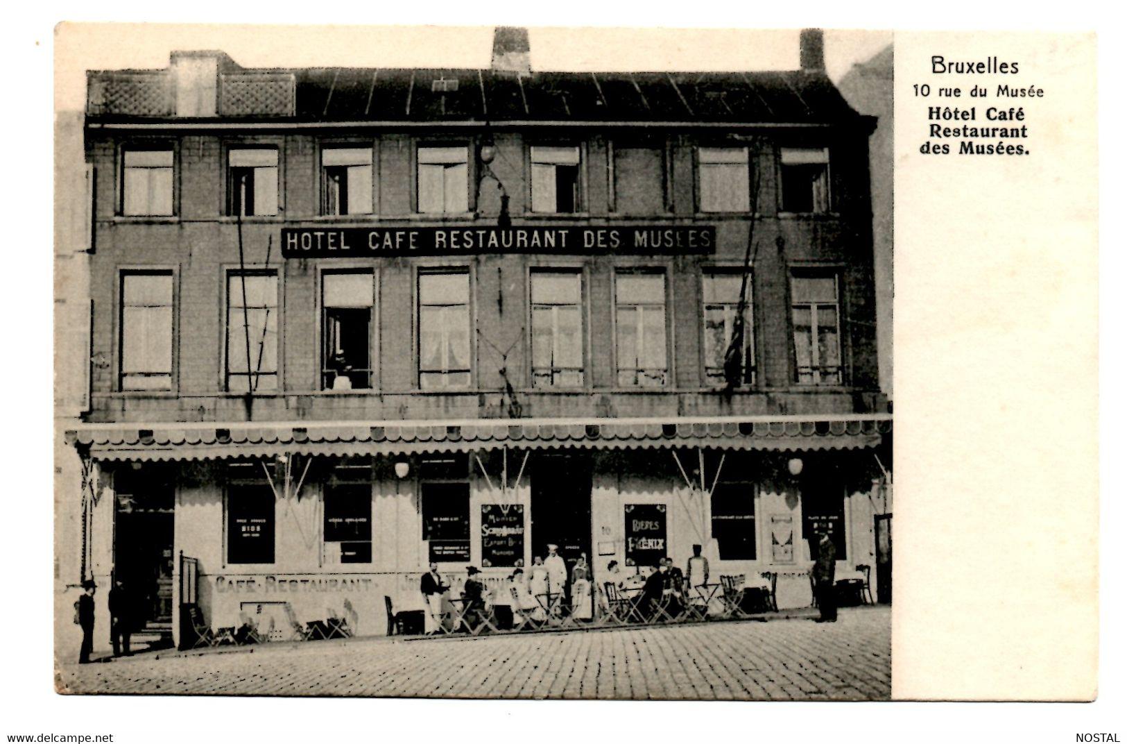 B18. Bruxelles: Hotel, Café, Restaurant Des Musées - Brussel (Stad)