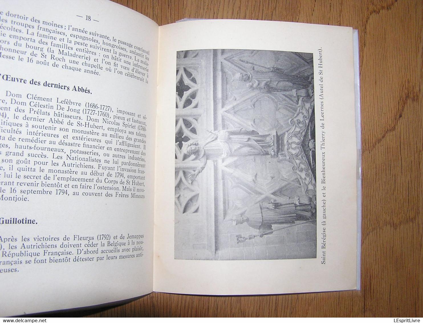 SAINT HUBERT EN ARDENNE Fascicule 1 Vie De Saint-Hubert Et Histoire De L' Abbaye Chalon Régionalisme Eglise Architecture - Bélgica