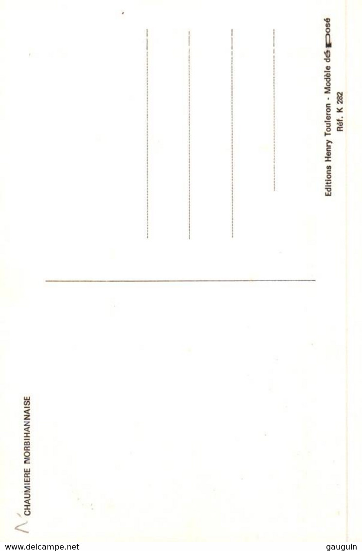 CPM - Illustration Henry TOULERON - Chaumière Morbihannaise - Edition Perso. - Bretagne