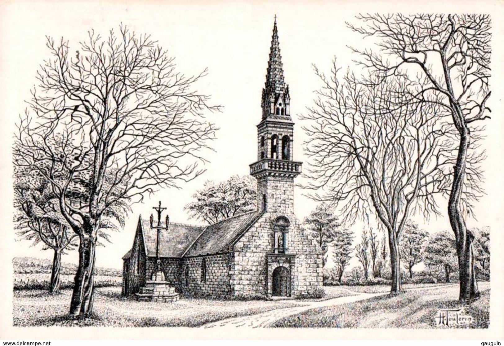 CPM - Illustration Henry TOULERON - Chapelle De QUILLIDOARE (CAST) - Edition Perso. - Bretagne