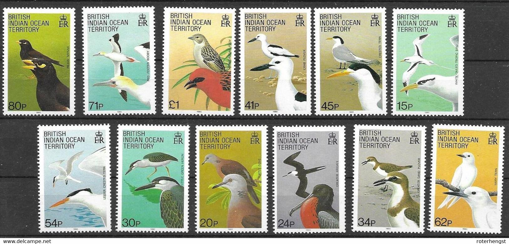 BIOT Mnh** Complete Set Birds 33 Euros 1990 - Unclassified