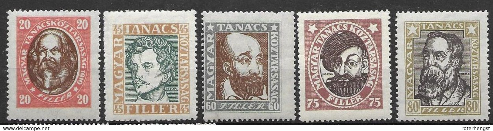 Hungary Mnh ** 54 Euros (45f Has Upright Watermark) - Unused Stamps
