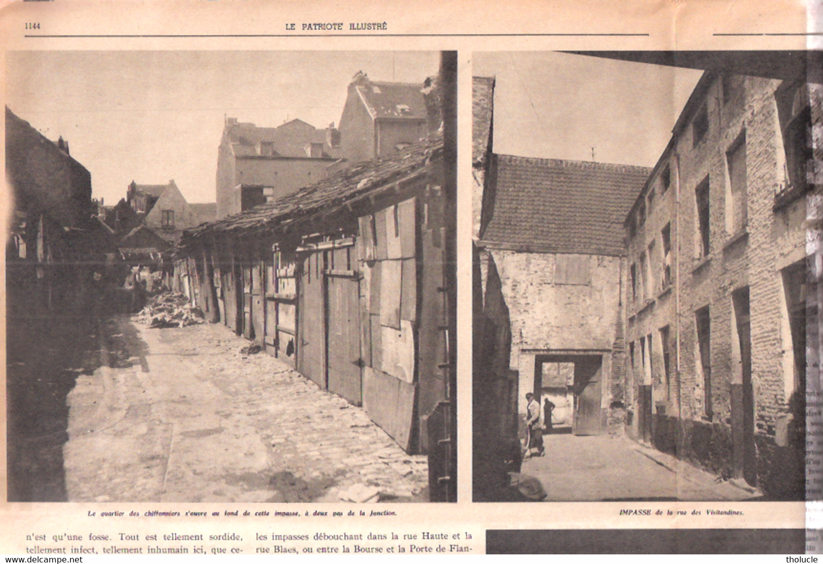 Bruxelles-700 Taudis Au Cœur De La Ville-Marolles-Rue Des Visitandines-Quartier Palais De Justice-Patriote Illustré-1952 - 1950 à Nos Jours