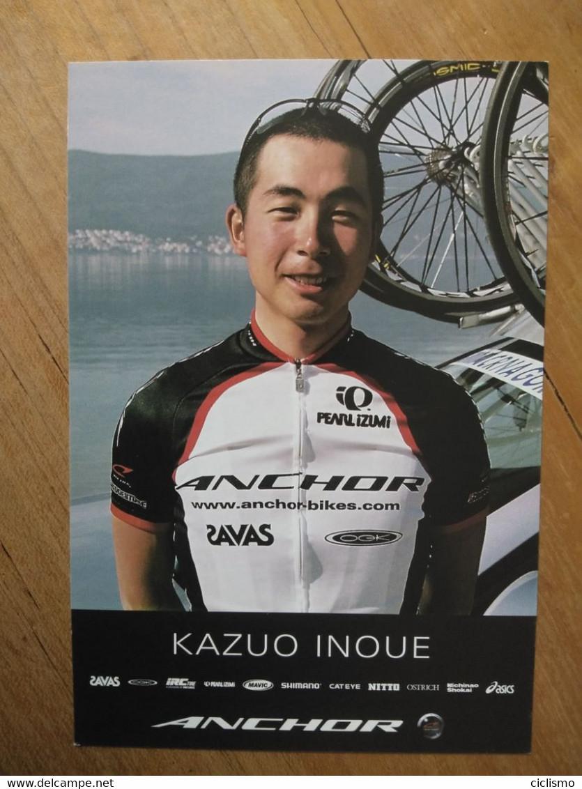 Cyclisme - Carte Publicitaire ANCHOR 2004 : Kazuo INOUE - Cycling