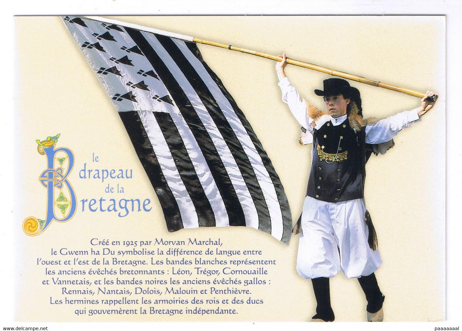 LA BRETAGNE  LE DRAPEAU DE LA BRETAGNE - Bretagne