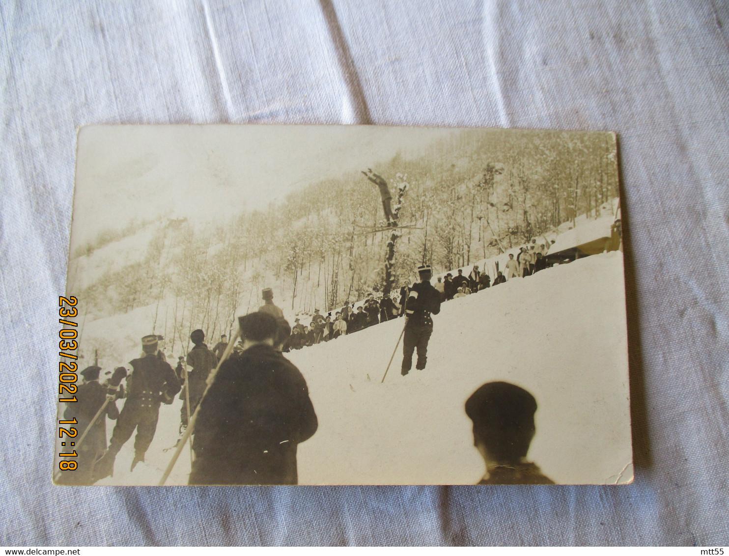 Carte Photo  Photo  Militaire Course De Ski - Photographs