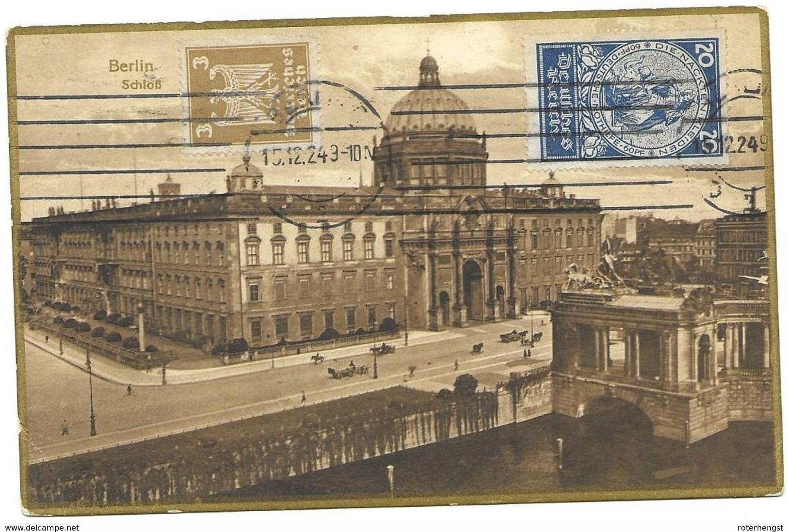 Reich 1924 Berlin Schloss To USA Kansas City 30 Euros+ - Covers & Documents