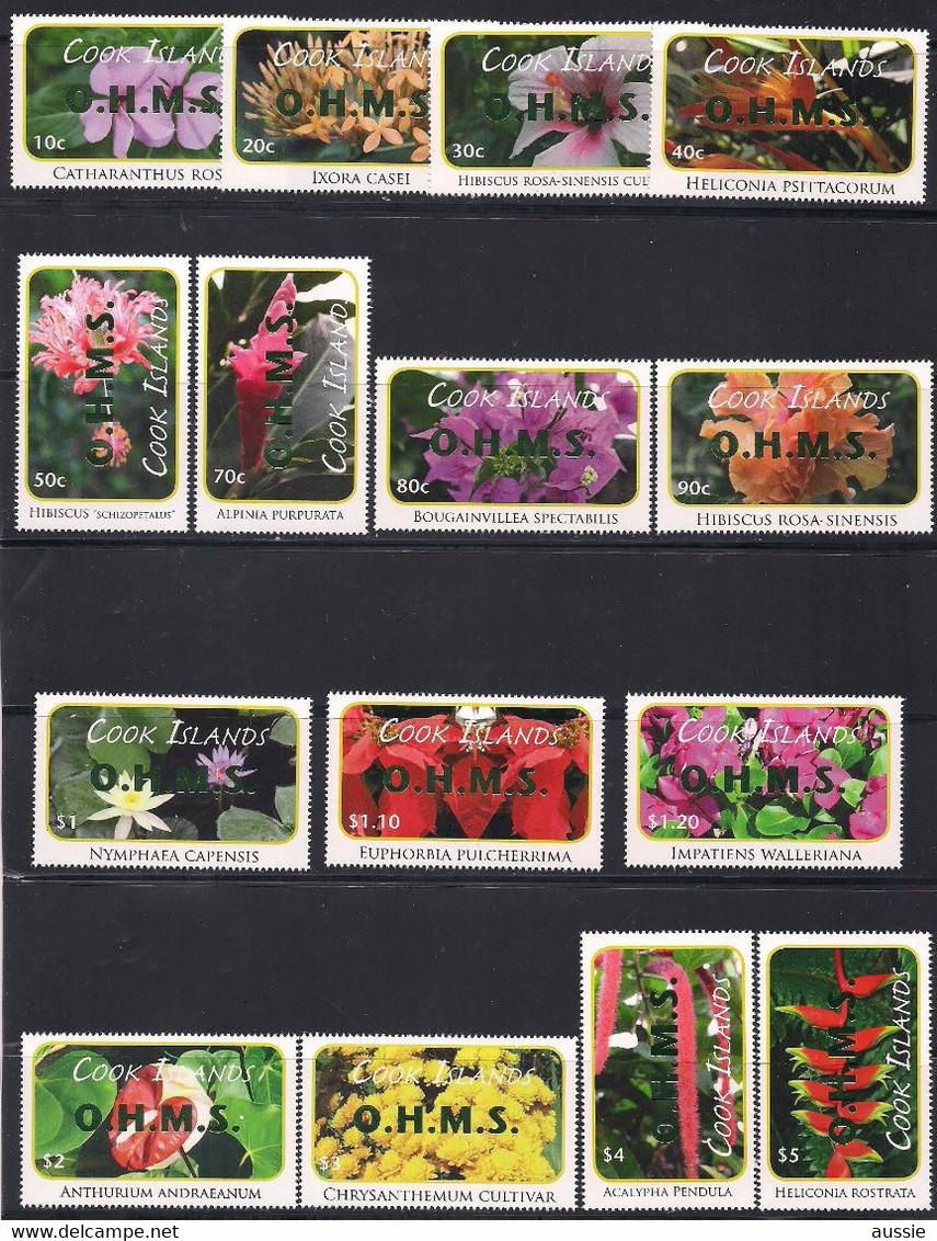 Cook Islands 2013 Yvertn° Service 103-117 Surcharge Verte *** MNH  Cote 46,50 € Flore Fleurs Bloemen Flowers - Cook