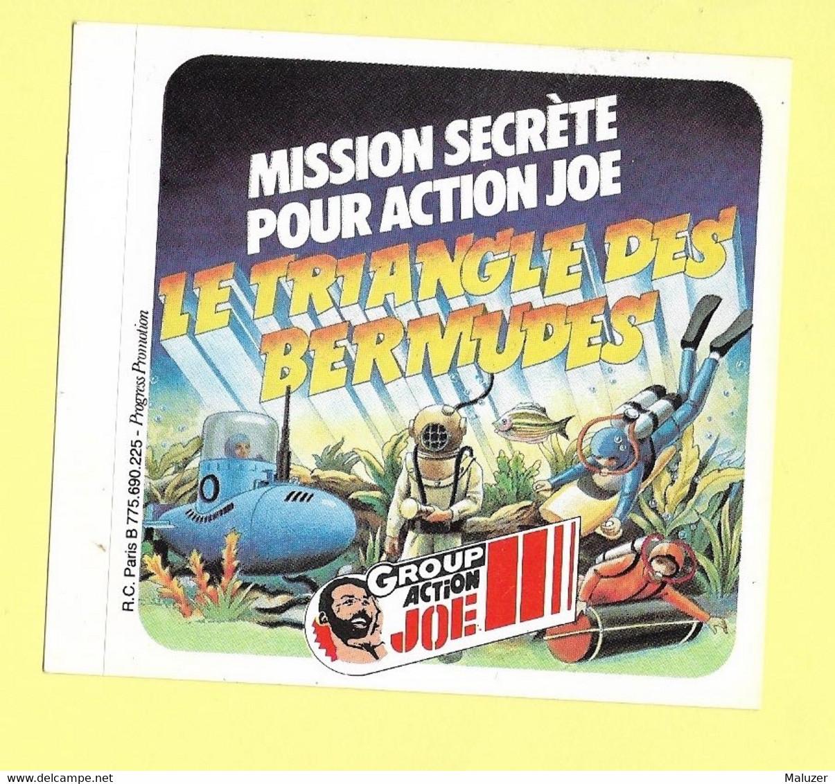AUTOCOLLANT - GROUP ACTION JOE - MISSION SECRÈTE - LE TRIANGLE DES BERMUDES -SCAPHANDRIER - SOUS-MARIN - PLONGEUR - Stickers