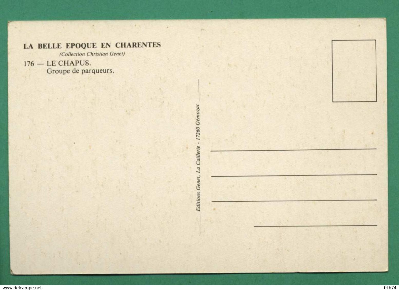 REPRODUCTION Le Chapus Groupe De Paqueurs ( Brouette, Chien, Paniers, Huitres ) - Autres Communes