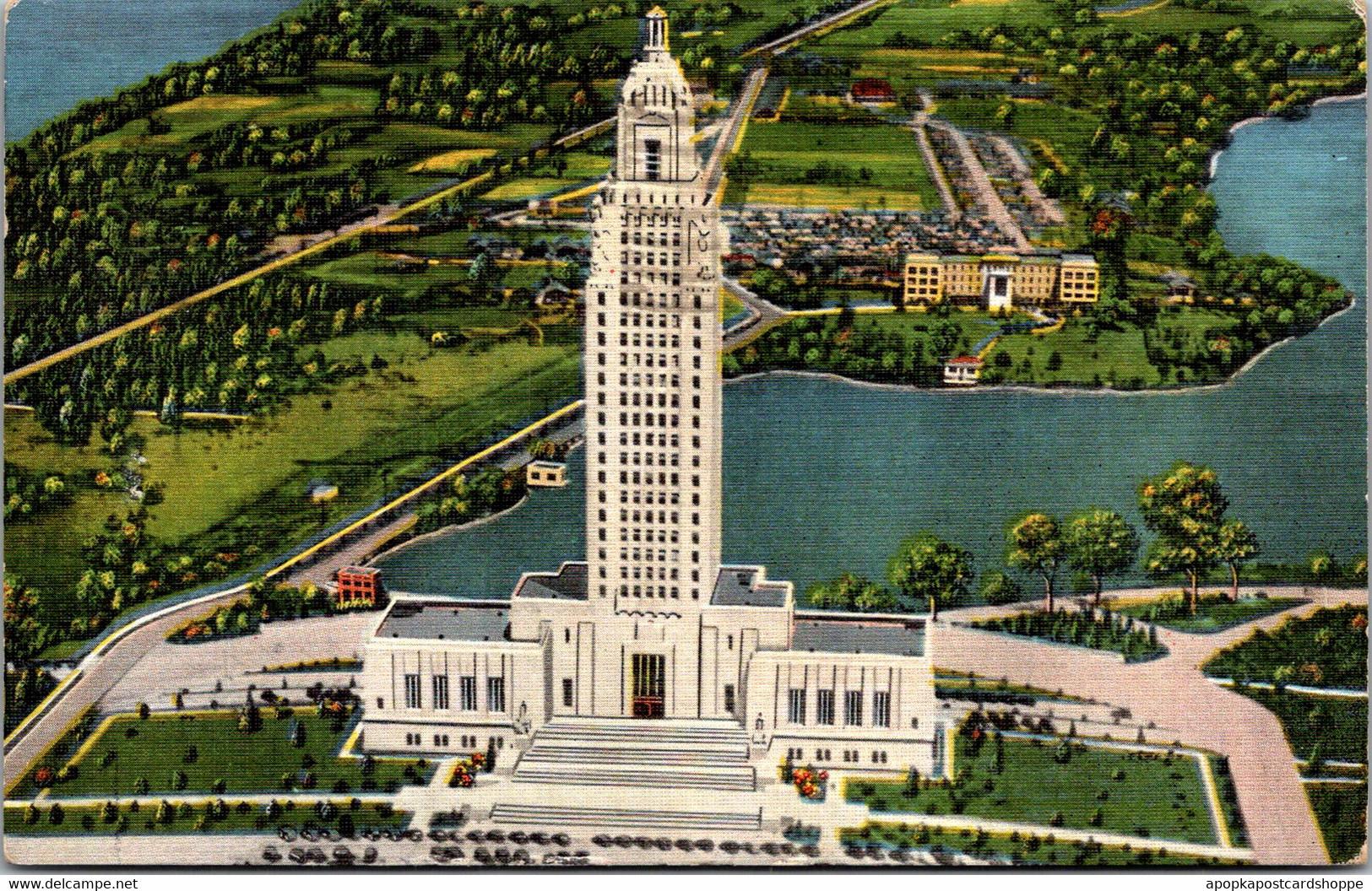 Louisiana Baton Rouge State Capitol Building 1937 - Baton Rouge