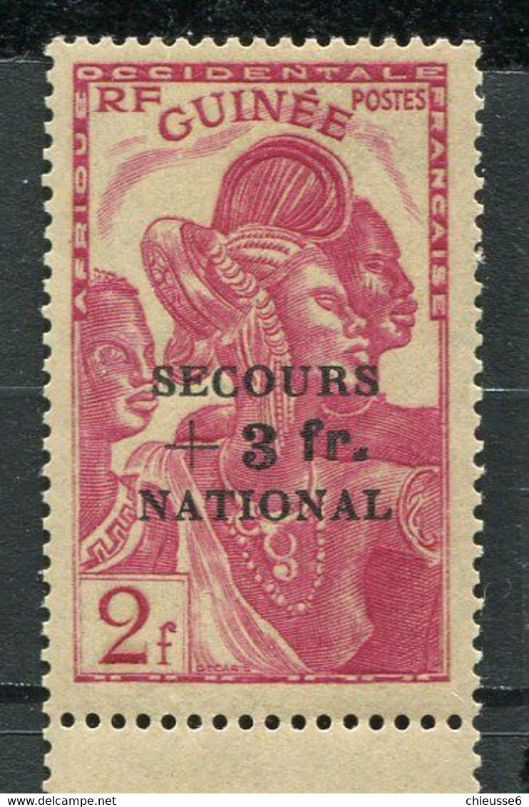 Guinée  ** N° 175 - Secours National - Unused Stamps