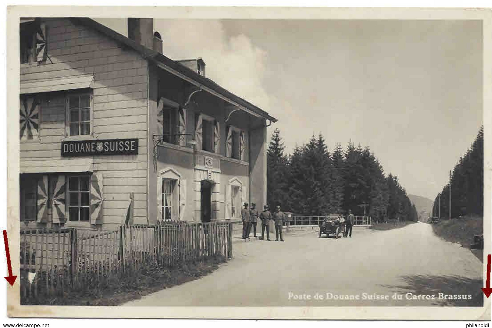 Poste De Douane Suisse Du Carroz Brassus, Animée, Personnages, Voiture. Non Voyagée. Wagen. Zollamt. Dogana. Custom. - VD Vaud