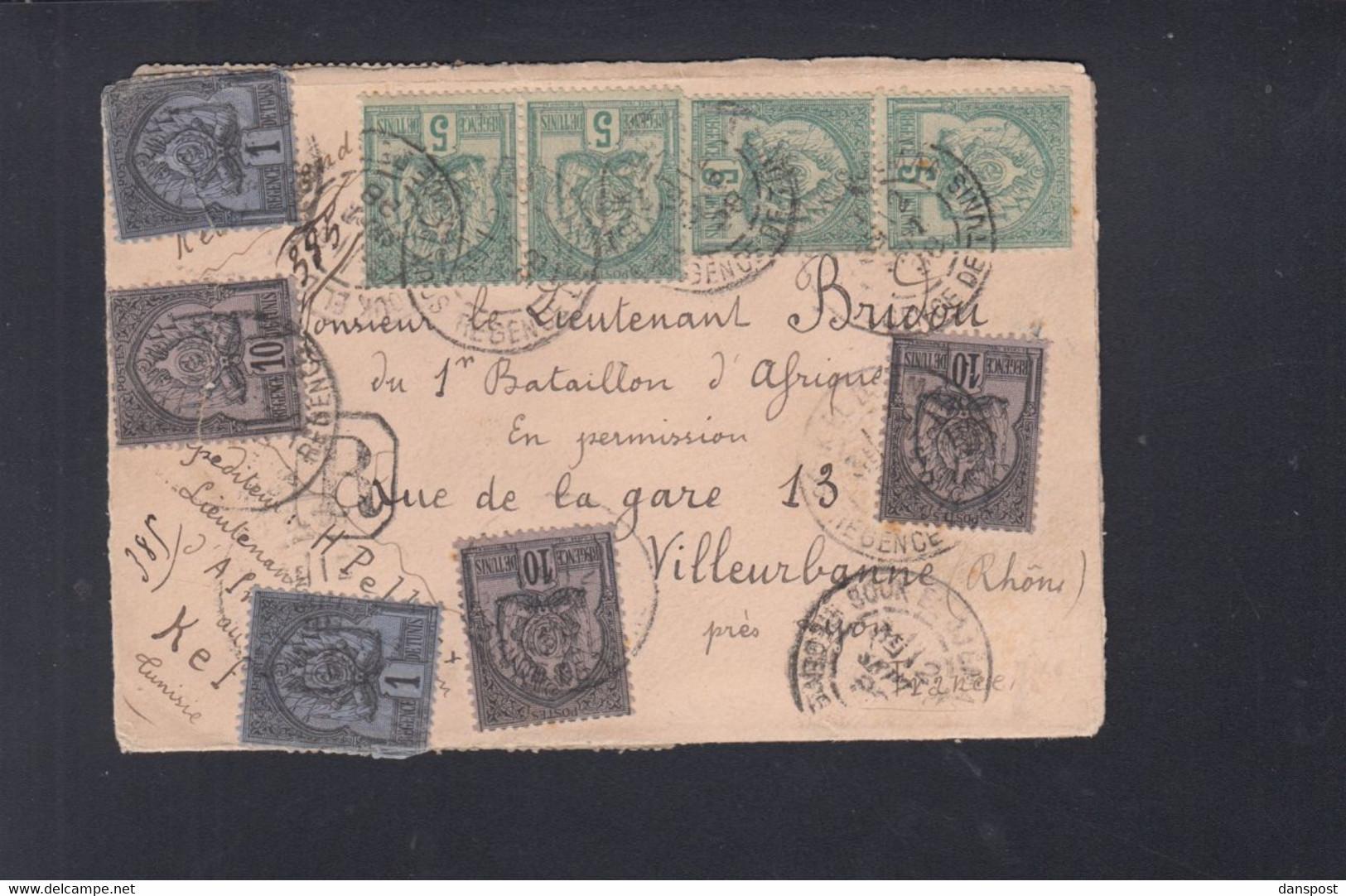 Frankreich France Tunisie R-Brief Kef 1898 - Briefe U. Dokumente