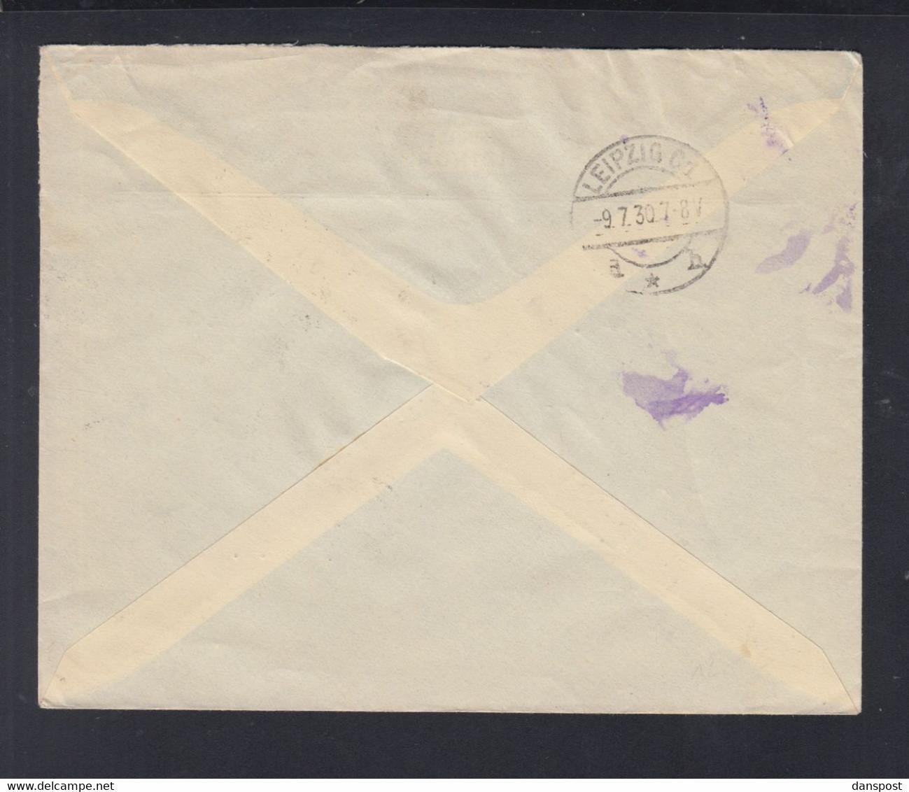 Frankreich France Tunisie R-Brief 1930 Tunis Nach Leipzig - Briefe U. Dokumente