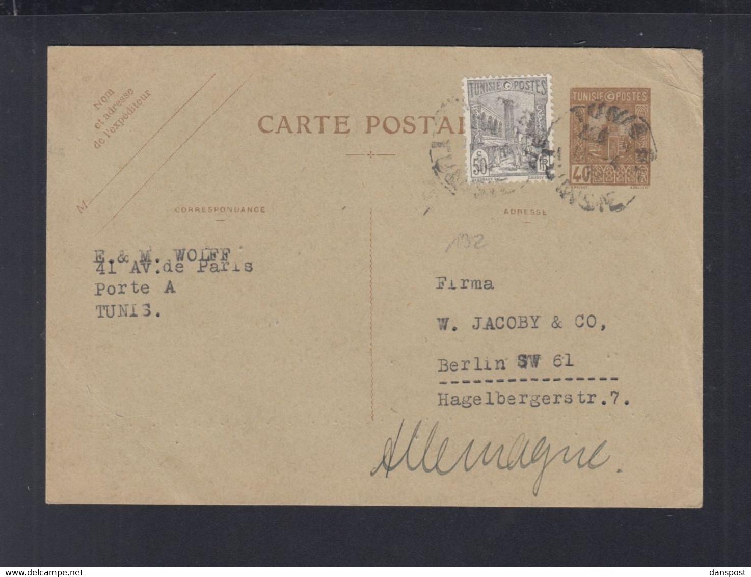 Frankreich France Tunisie GSK Mit ZuF 1934 Nach Berlin - Briefe U. Dokumente