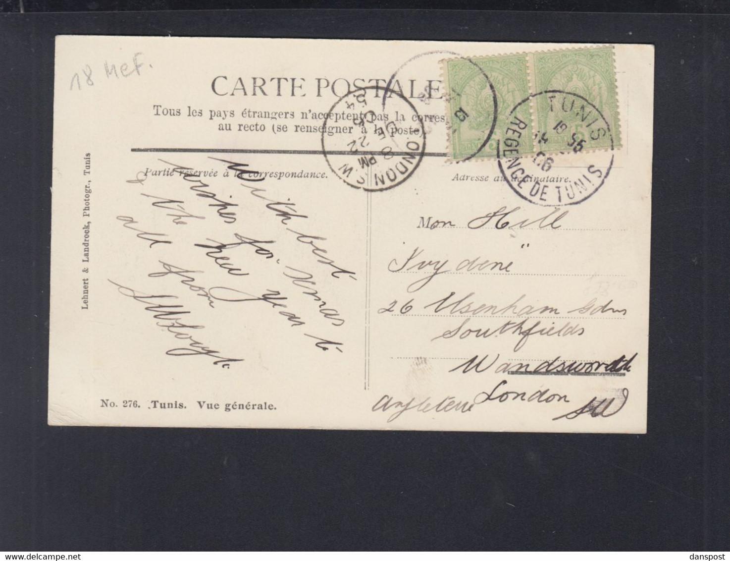 Frankreich France Tunisie AK Tunis 1906 - Tunesien
