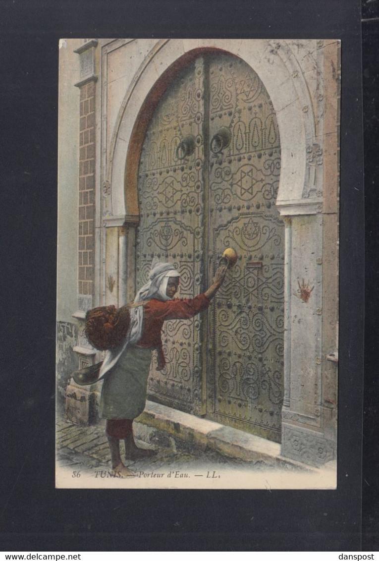 Frankreich France Tunisie AK 1909 Porteur D'Eau Paar Mit Zwischensteg - Briefe U. Dokumente