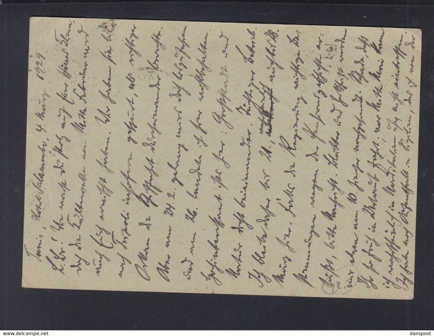 Frankreich France Tunisie GSK Mit ZuF 1929 Tunis Nach Ratingen - Briefe U. Dokumente