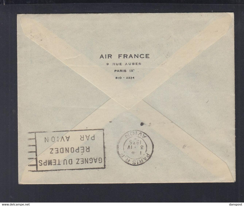 Frankreich France Tunisie Premier Vol Tunis Paris Air France - Luftpost