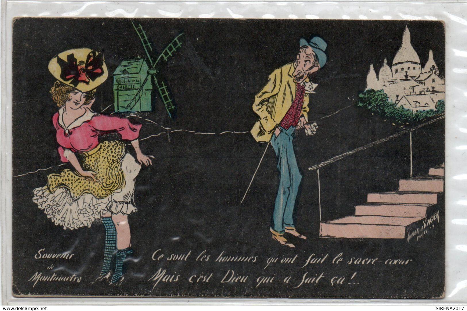 Cartolina Francese HUMOR - 3 - NON VIAGGIATA - Humor
