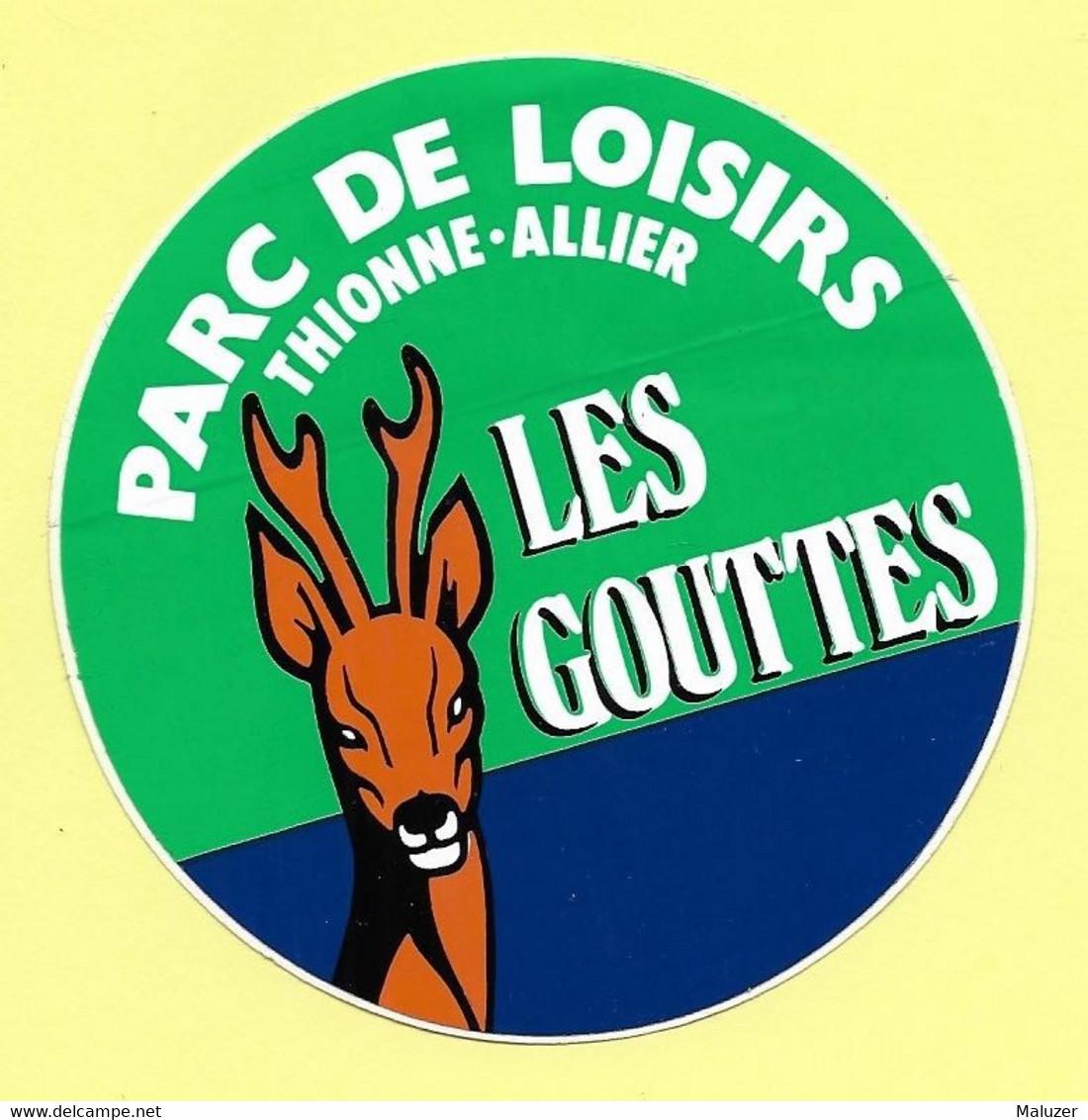 AUTOCOLLANT STICKER - PARC DE LOISIRS LES GOUTTES - THIONNE - ALLIER - Stickers