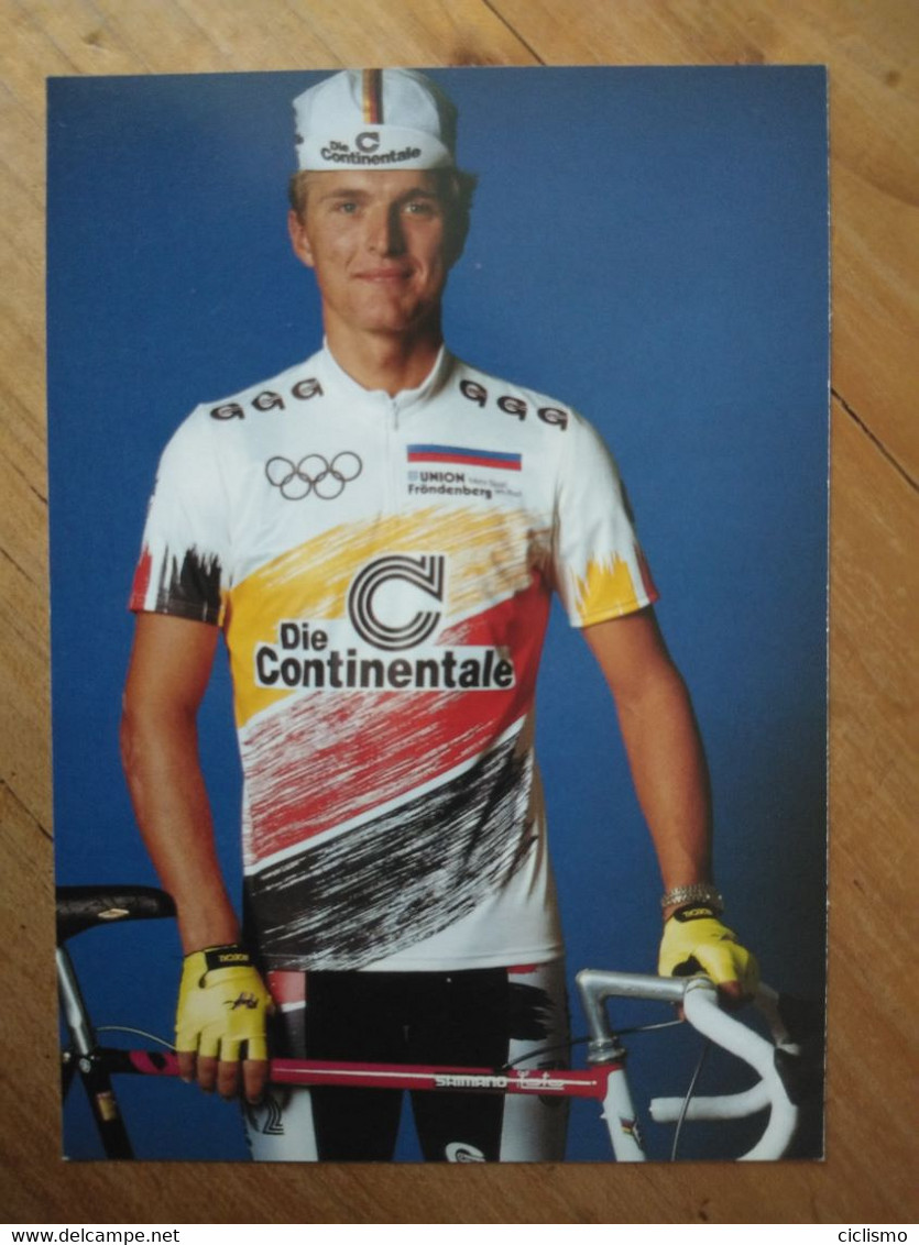 Cyclisme - Carte Publicitaire DIE CONTINENTALE RC OYMPIA DORTMUND 1990 : LEHNERT - Cycling