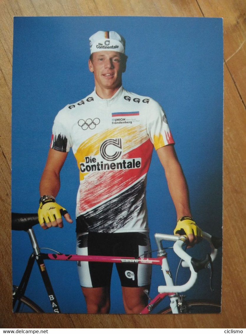 Cyclisme - Carte Publicitaire DIE CONTINENTALE RC OYMPIA DORTMUND 1990 : HUNDERTMARCK - Cycling