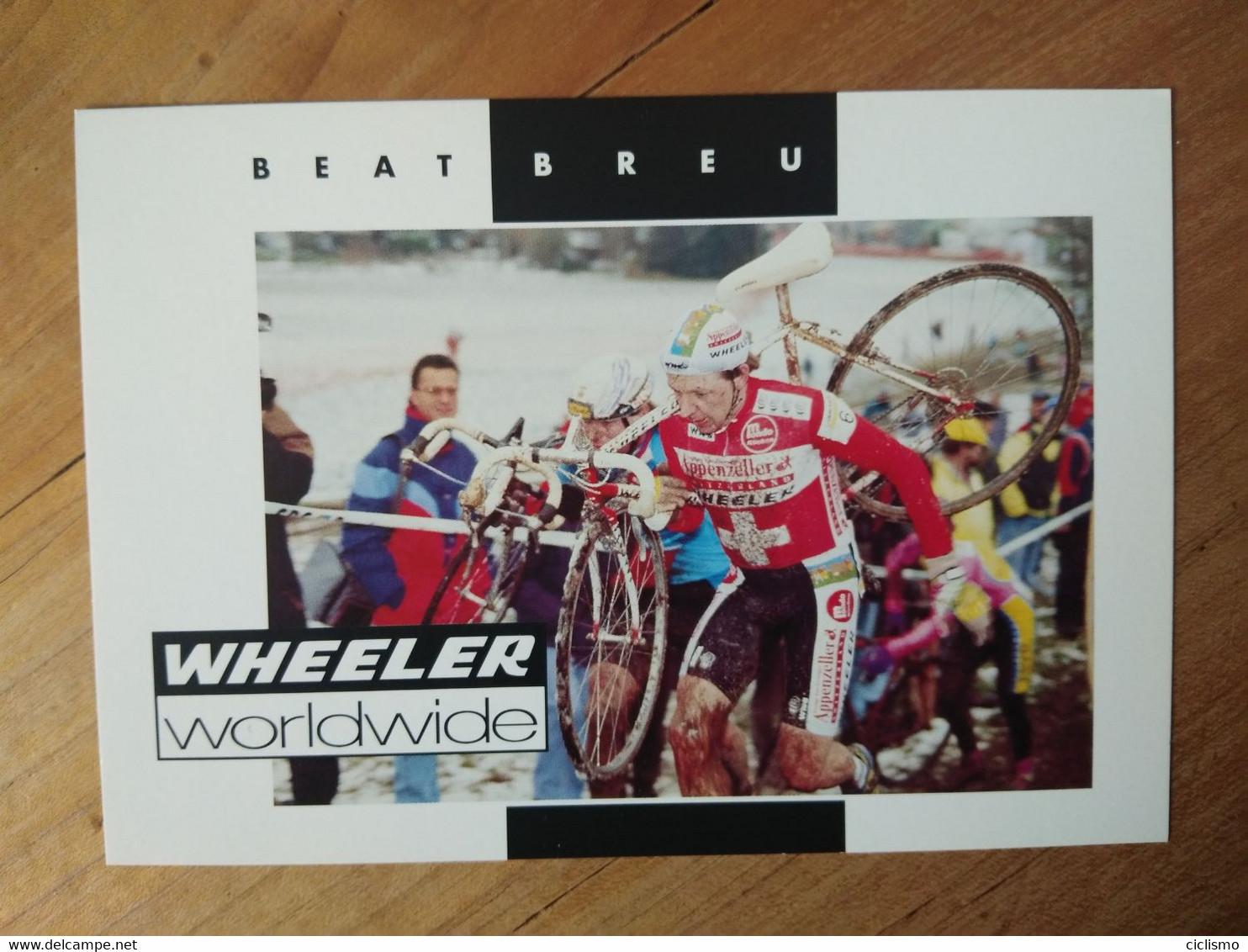 Cyclisme - Carte Publicitaire WHEELER 1994 : Beat BREU - Cycling