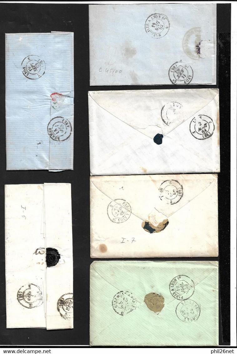 """France Lot De 50 Lettres Et Plis Classiques"""" Bleus""""  Oblitérés B/TB   à Saisir     Mise à Prix  1 Euro      Soldes ! ! ! - Collections (sans Albums)"""