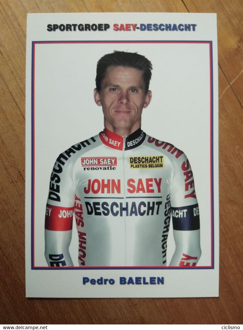 Cyclisme - Carte Publicitaire JOHN SAEY DESCHACHT 2003 : BAELEN - Cycling