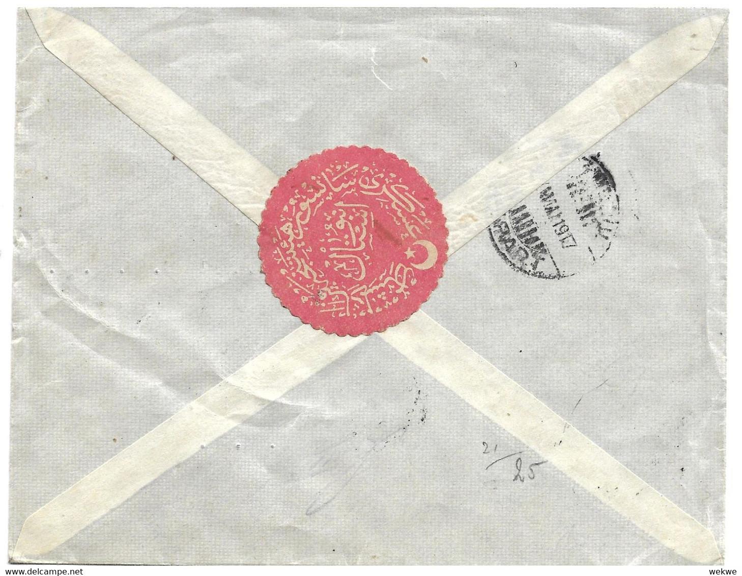 Tur171 / TÜRKEI - Zensierter Geschäftsbrief  Nach Ober-Weimar (Deutschland) - Covers & Documents