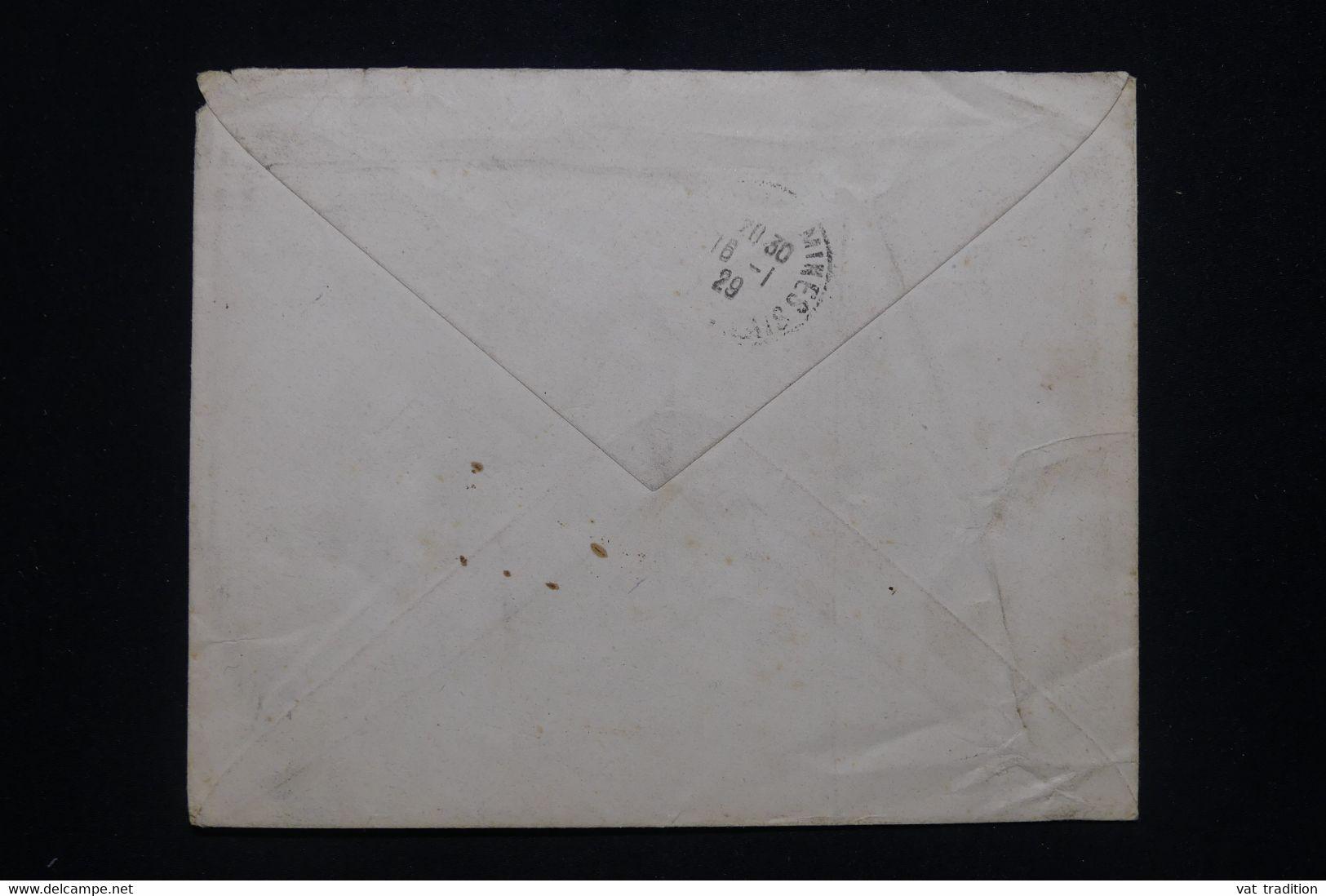 FRANCE - Enveloppe De Gan Pour Nœux Les Mines En 1929, Affranchissement Orphelins Surchargés Dont Bloc De 4 - L 93290 - 1921-1960: Modern Tijdperk