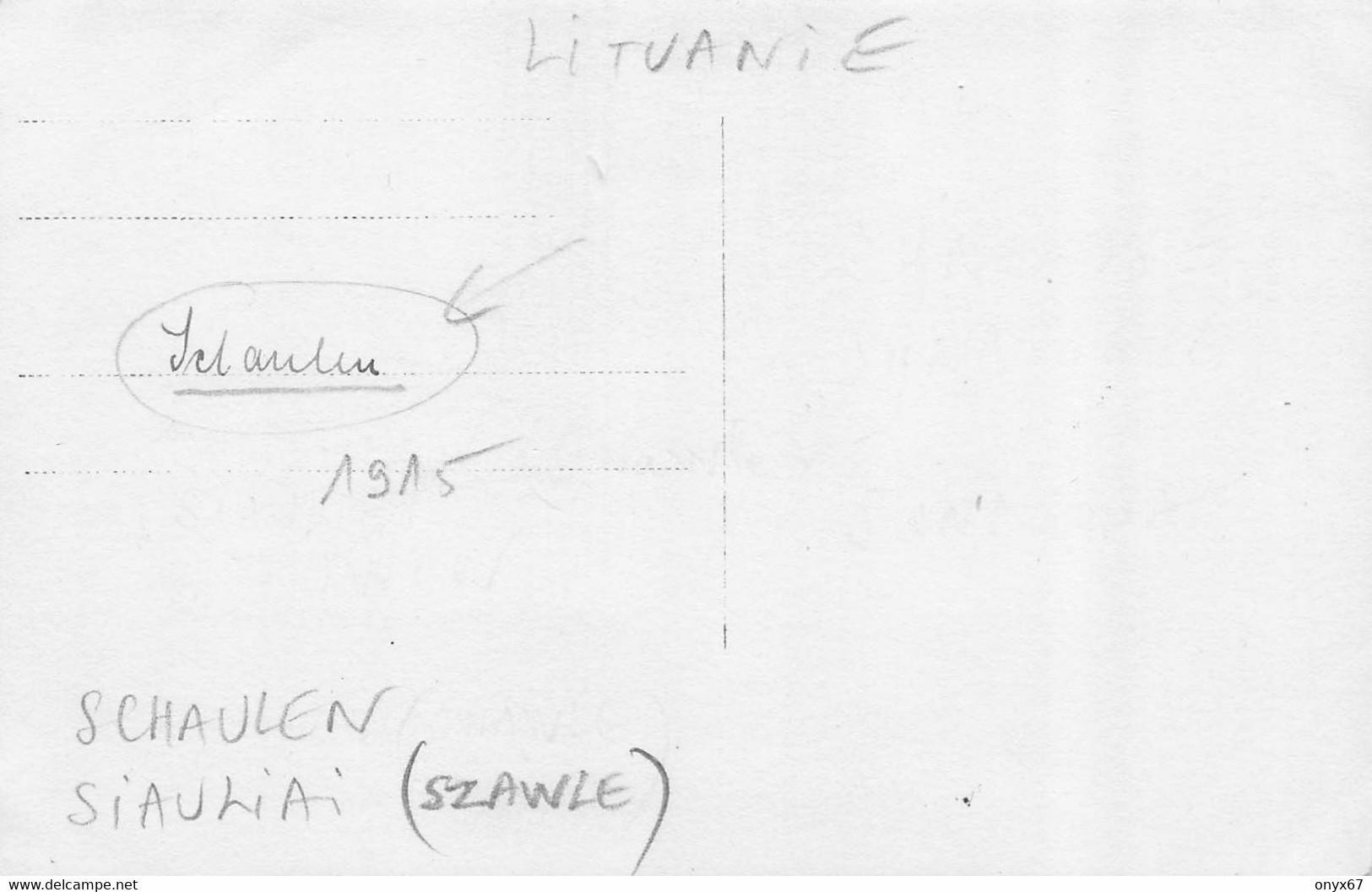 Carte Postale Photo SCHAULEN-Szawle-Siauliai-Lituanie-Lituania-SYNAGOGUE-Synagoge-Synagoga-JUDAÏCA-JUDEN-JUIF-Krieg-RARE - Lituania