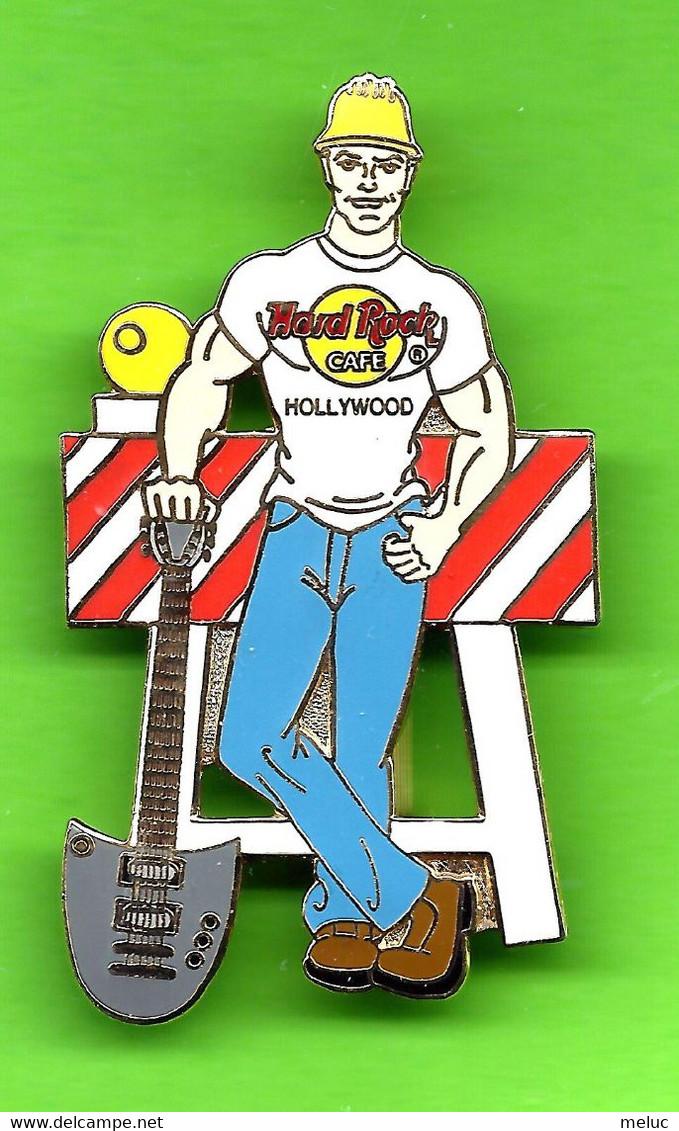 Pin's  / Broche Hard Rock Café Hollywood Homme Travaux De Voirie - HRC058 - Musica