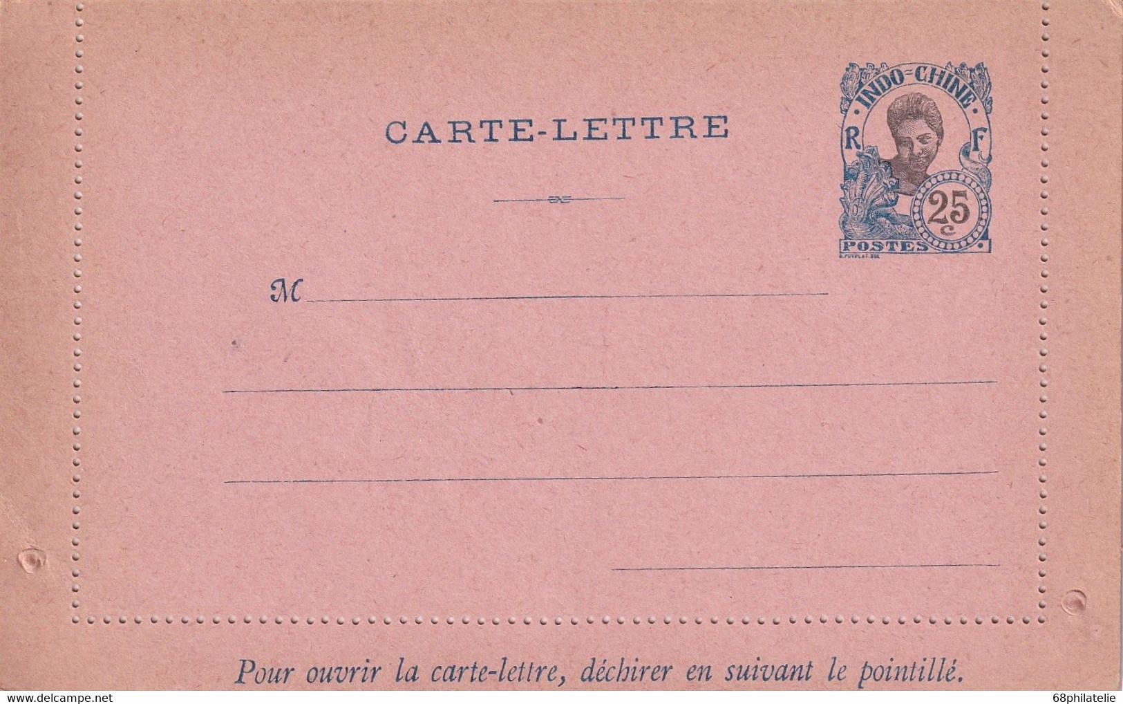 INDOCHINE    ENTIER POSTAL/GANZSACHE/POSTAL STATIONARY   CARTE-LETTRE - Briefe U. Dokumente