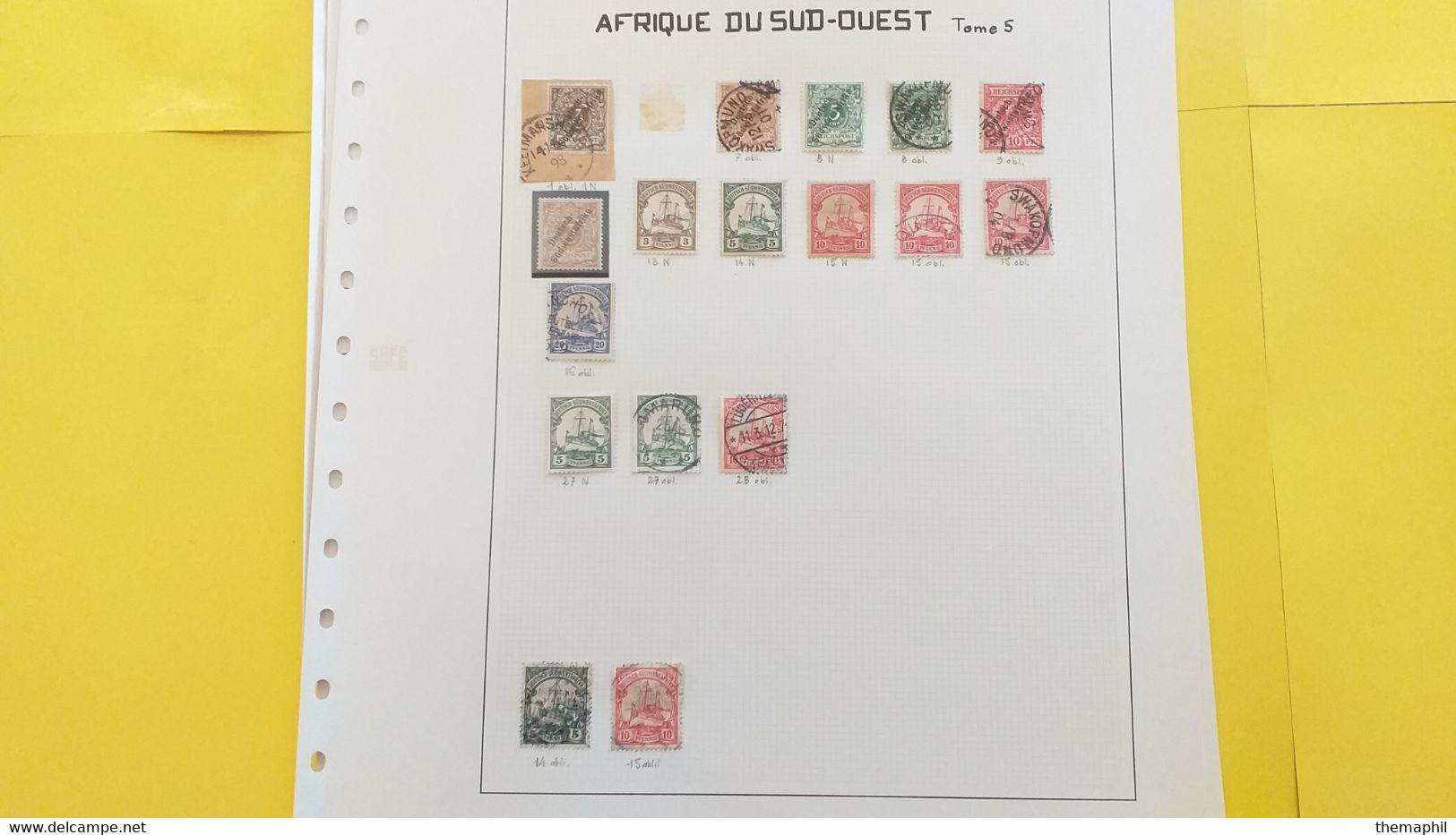 Lot N° TH 393 COLONIES + Algerie Un Lot Sur Page D'albums  Neufs X Ou Obl. - Collections (with Albums)