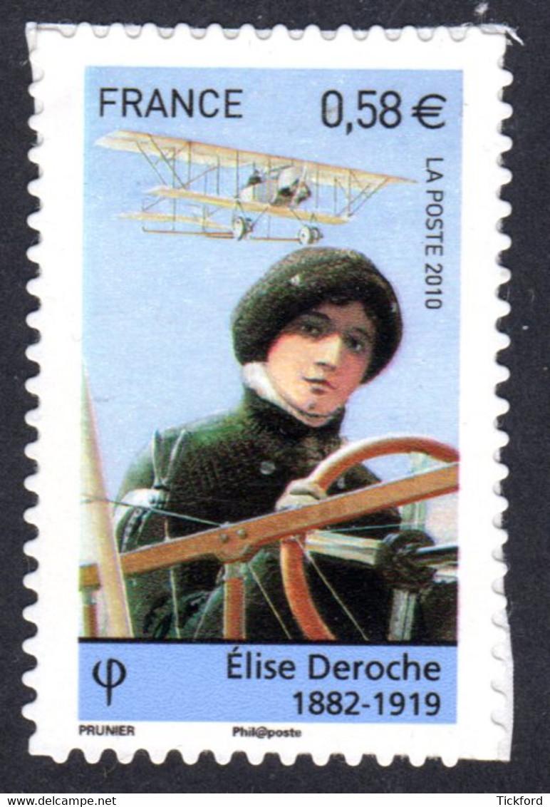 FRANCE 2010 - Autoadhésif Yvert N° 485 NEUF, Elise Deroche - Luchtpost