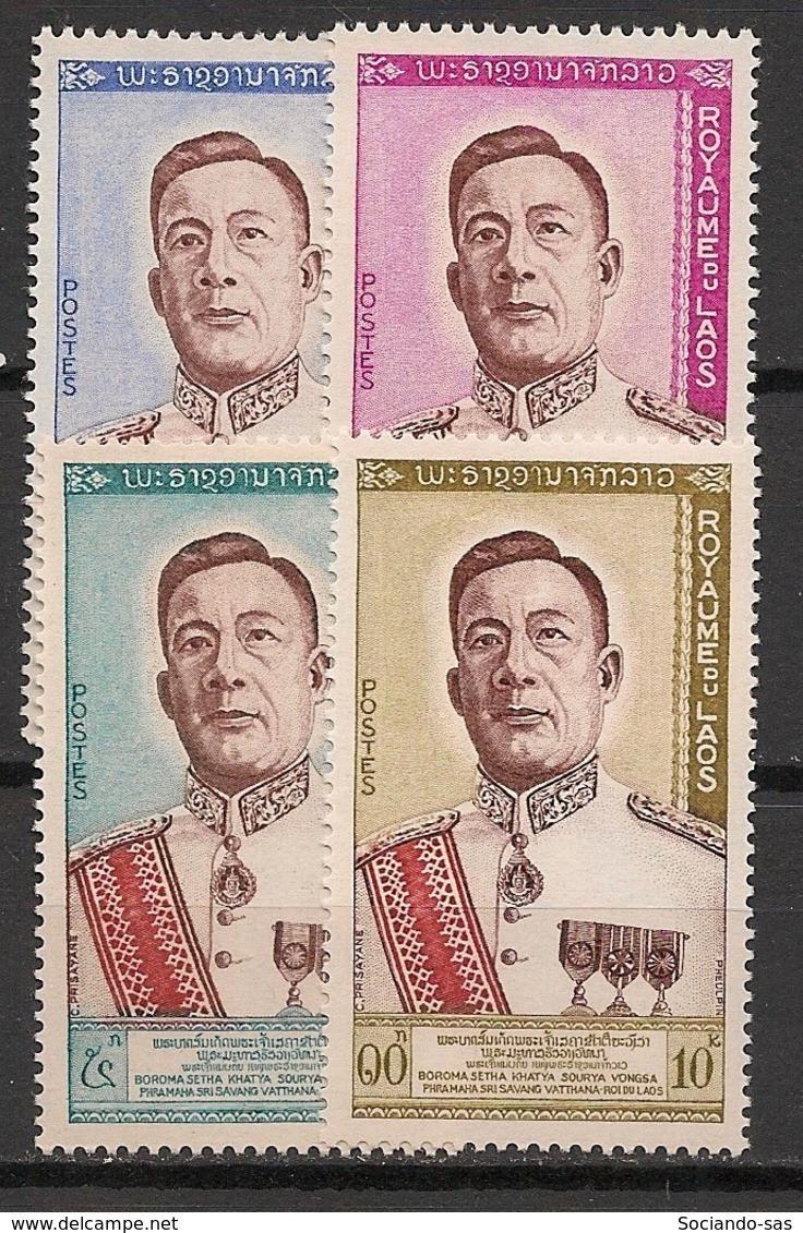 Laos - 1962 - N°Yv. 75 à 78 - Roi Sri Savang Vatthana - Neuf Luxe ** / MNH / Postfrisch - Laos